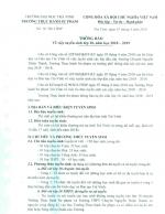 Thông báo tuyển sinh lớp 10