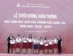Tuyên dương học sinh đạt giải trong các kỳ thi, hội thi năm học 2018 – 2019
